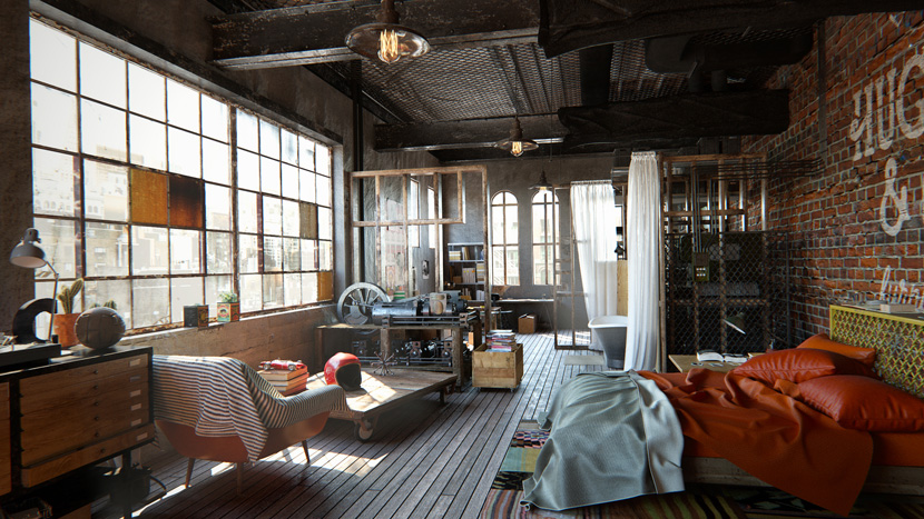 Architectural visualization| 'Whola Lotta Loft' | Yarko Kushta